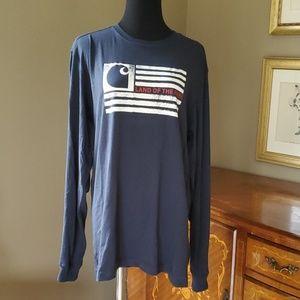 "CARHARTT Mens L/S "" Land of the Free"" Shirt *"